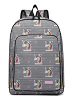 Popelli Rugzak - Schooltas - Laptop Rugzak - Eenhoorn / Unicorn - A4 formaat - Lichtgewicht (E1833 UC-WE)