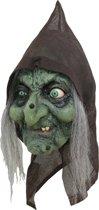 3/4 Oude heks masker voor Halloween  - Verkleedmasker - One size