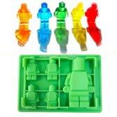 Siliconen Lego bakmal - fondantmal - jelly mal, gummy mal - groen