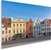 Kleurrijke huizen in het Stadshart van Tallinn Plexiglas 180x120 cm - Foto print op Glas (Plexiglas wanddecoratie) XXL / Groot formaat!