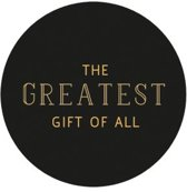 Villa Madelief Greatest gift sticker zwart goud
