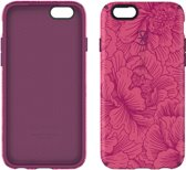 Speck CandyShell Inked - Hoesje voor iPhone 6 / 6s - FreshFloral Red Pattern / Boysenberry Purple Core