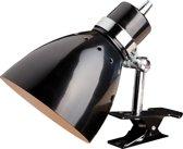 Steinhauer Spring - Wandlamp - 1 lichts - Zwart - Klemlamp