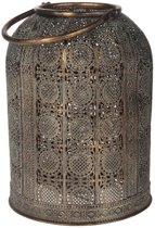Dijk Natural Collections metalen lantaarn goud/grijs