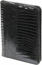 Kalpa 2500-61 A5 schrijfmap met rits croco zwart