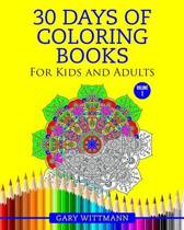 30 Days of Coloring Books for Kids and Adult