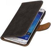 Bookwallet bark grijs hoes Samsung Galaxy J5 2015