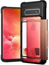 VRS Design Damda Glide Shield hoesje voor Samsung Galaxy S10 - Yellow Peach Black