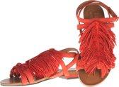 La Femme Plus -  sandalen - maat 39 - dames - rood - suede