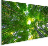 Boomtoppen in het Bamboebos van Arashiyama Plexiglas 120x80 cm - Foto print op Glas (Plexiglas wanddecoratie)