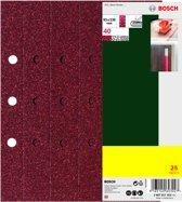 Bosch 25-delige schuurbladenset voor vlakschuurmachine, spansysteem, 93 x 230 mm, b&d-perforatie (8x), korrel 120