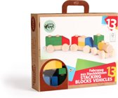 Varis Toys - Stapelblokken - Voertuigen - 13 delig