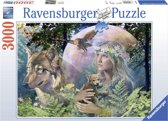 Ravensburger puzzel Wolven in de maneschijn - Legpuzzel - 3000 stukjes