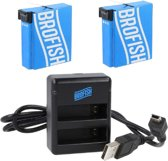 Brofish GoPro Dual battery charger + 2x battery for Hero4