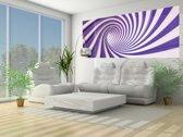 Fotobehang Design | Paars, Wit | 250x104cm