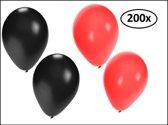 Halloween ballonnen helium 200x rood en zwart