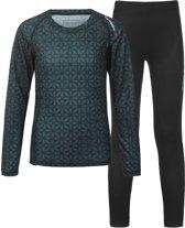 Tenson Sportshirt - Maat 158  - Unisex - blauw/zwart