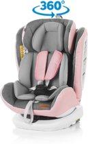 Autostoel Tourneo isofix roze geschikt voor newborns 360 graden draaibaar