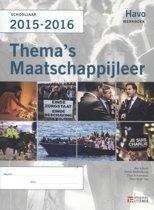 Thema's maatschappijleer voor HAVO 2015-2016 werkboek