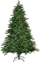 Black Box brampton kunstkerstboom met led groen 100 lampjes met warmwit led maat in cm: 120 x 91