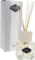 Belforte Luxe Witte Kubus Fragrance Diffuser met Geurstokjes 100 ml – White Linen