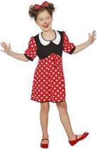 Mickey & Minnie Mouse Kostuum | Minnie De Mooie Muis | Meisje | Maat 140 | Carnaval kostuum | Verkleedkleding