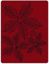 Sizzix Texture Fades Embossing Folder by Tim Holtz, Poinsettia