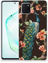 Samsung Galaxy Note 10 Lite TPU Hoesje Pauw met Bloemen