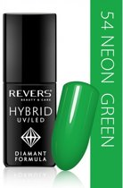 REVERS® Hybrid Nail Polish UV/LED 6ml. #54 Neon Green