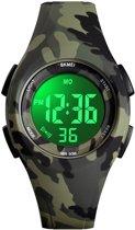 Kinderhorloge – Stopwatch – Waterdicht – Digital Watch – Legergroen