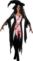 Heks & Spider Lady & Voodoo & Duistere Religie Kostuum | Bloedige Heks Bloody Mary | Vrouw | Maat 46 | Halloween | Verkleedkleding