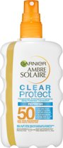 Garnier Ambre Solaire Clear Protect SPF 50 Zonnebrandspray - 200 ml - Transparante Spray