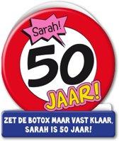 Paperdreams - Wenskaart - Verkeersbord - 50 Jaar - Sarah
