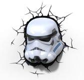 3DlightFX Star Wars Stormtrooper - Wandlamp - Nachtlamp met wandsticker en timer - energie zuinige LED - 27 x 29 cm.