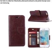 PaxxMobile Basixx Hoesje voor Samsung Galaxy S5 G900 of S5 Neo G903 Boek Hoesje Book Case Bruin