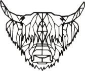 FBRK. Schotse Hooglander 75 x 65 cm Goud Metallic- Geometrische dieren -Wanddecoratie