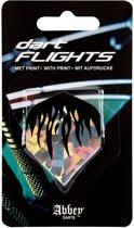 Abbey Darts Flights - Zilver/Zwart/Blauw