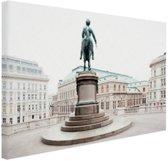 Aartshertog Albrecht Monument Wenen Canvas 60x40 cm - Foto print op Canvas schilderij (Wanddecoratie)