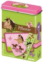 Moses Pleisters In Metalen Doos Paarden 20-delig Groen/roze