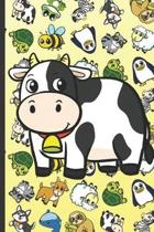 Cow Animal Party Notebook