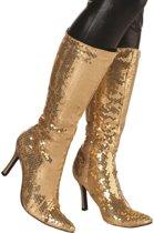 Laarzen pailletten goud Maat 38