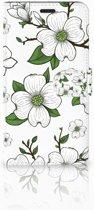 Motorola Moto Z Play Boekhoesje Design Dogwood Flowers