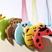Deurstoppers Schuim voor kinderen - Veiligheids deurstopper kind / baby - Klem bescherming - Vinger bescherming - multicolour dieren - 4 stuks