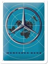 Wandbord - Mercedes-benz world -15x20-