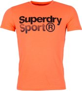 Superdry Shirt - Maat L  - Mannen - oranje/zwart