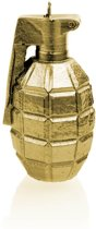Geel goud gelakte figuurkaars, design: Granaat  Hoogte 11 cm (12 uur)