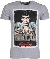 Mascherano T-shirt - Scarface Get Every Dollar - Grijs - Maat: L