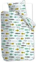 Beddinghouse Fishy - Dekbedovertrek - Junior - 120x150 cm + 1 kussensloop 60x70 cm - Mint groen