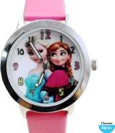 Aanbieding- Frozen Horloge- Roze-30 mm