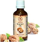 Walnootolie 50 ml, 100% zuiver en natuurlijke basisolie, rijk aan mineralen & vitamines, omega 3 voor intensieve lichaamsverzorging / massage / wellness / cosmetica / ontspanning / aromatherapie / SPA / alternatieve geneeskunde van AROMATIKA